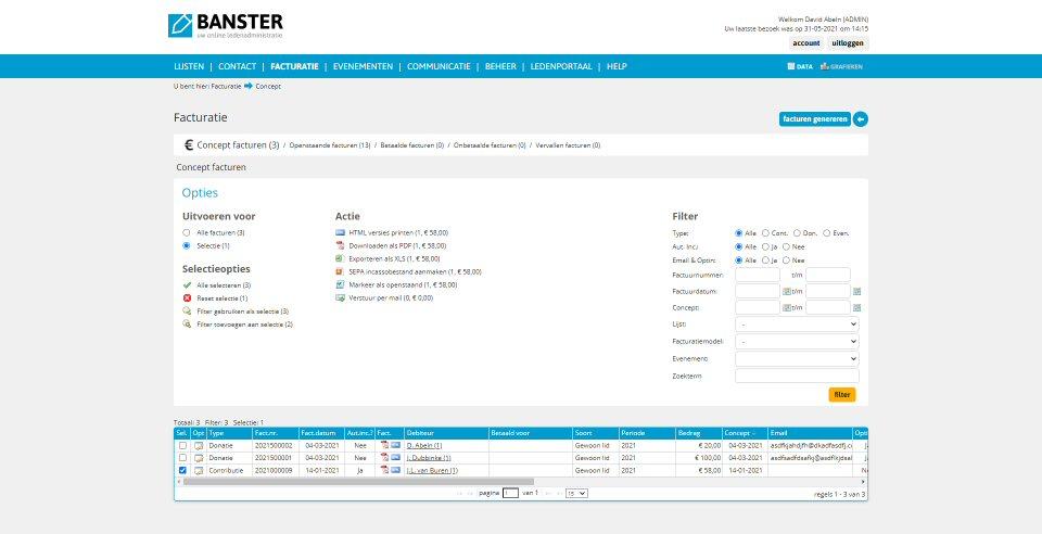 Screenshot Banster desktop